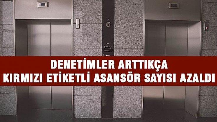 Asansörlere sıkı takip.